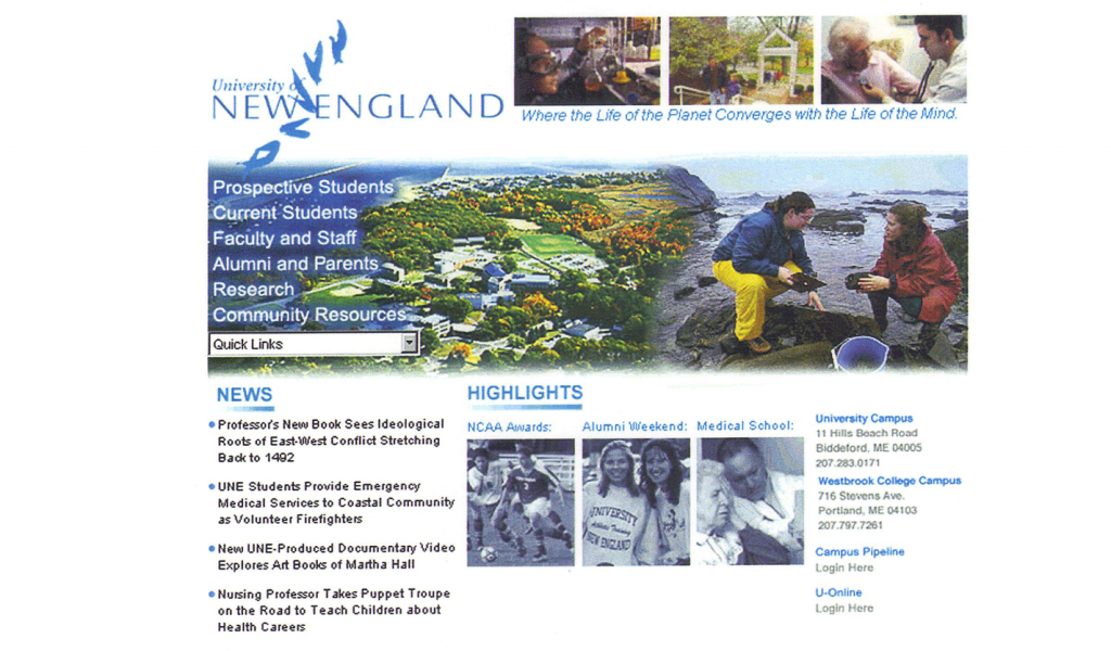 University of New England Website