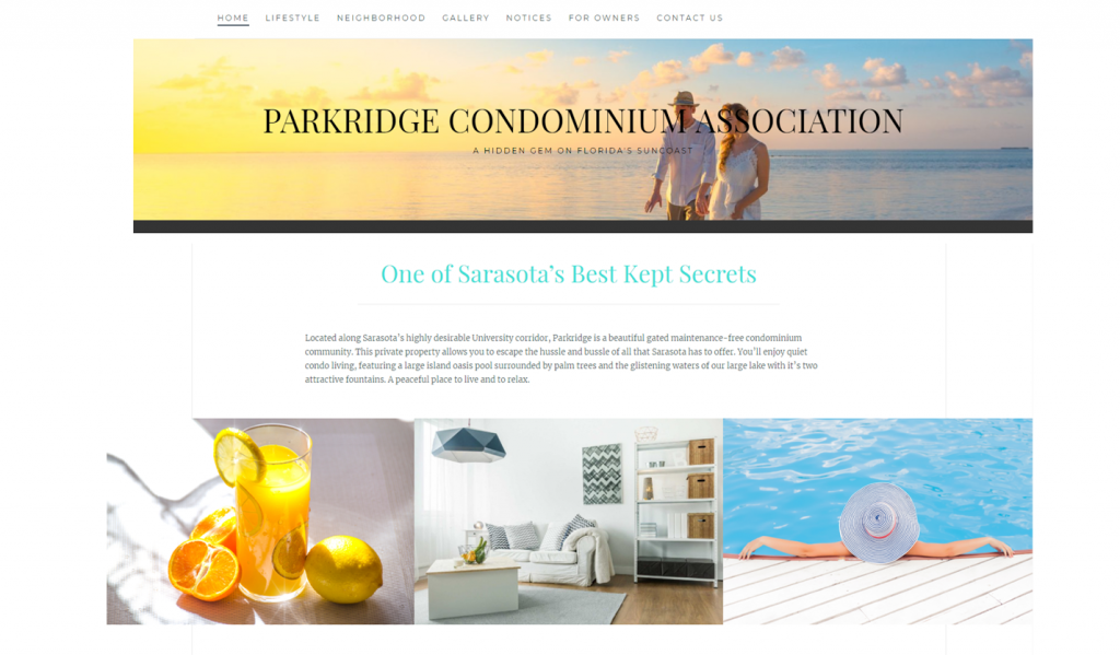Parkridge Condo Website